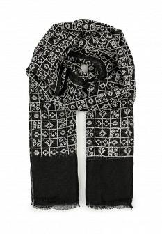 Женский черный итальянский шарф