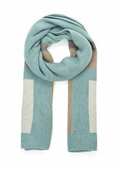 Женский голубой итальянский шарф