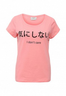 Женская розовая футболка Vero moda
