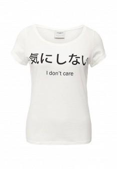 Женская белая футболка Vero moda