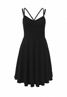 Черное осеннее платье Vero moda