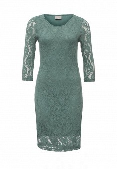 Зеленое осеннее платье Vero moda