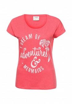 Женская красная футболка Vero moda