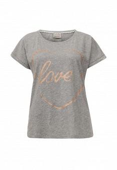 Женская серая футболка Vero moda