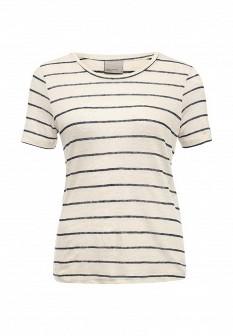 Женская бежевая футболка Vero moda