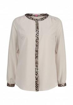 Бежевая осенняя блузка