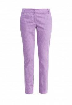 Женские белые фиолетовые брюки