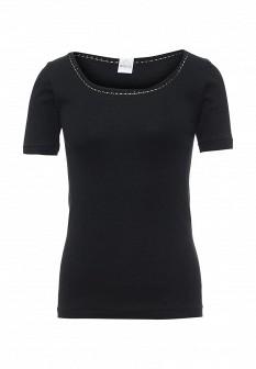 Женская черная домашняя футболка