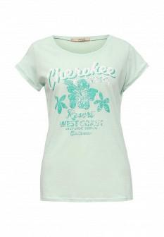 Женская мятная футболка