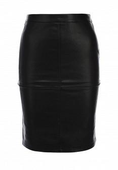 Черная осенняя юбка Vila
