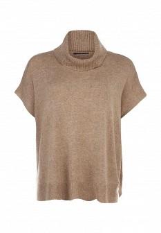 Женский бежевый коричневый осенний свитер