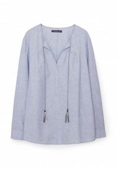 Серая блузка Violeta by Mango