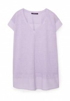 Женская фиолетовая футболка Violeta by Mango