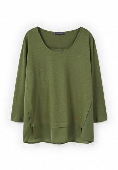 Женский зеленый осенний лонгслив