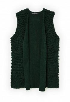 Женский зеленый осенний жилет