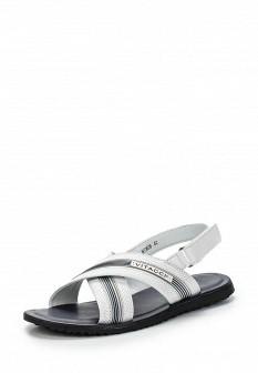 Мужские белые кожаные сандалии