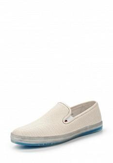 Мужские бежевые кожаные туфли лоферы