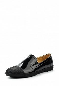 Мужские черные кожаные лаковые туфли лоферы