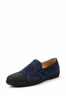 Мужские синие туфли лоферы Vitacci