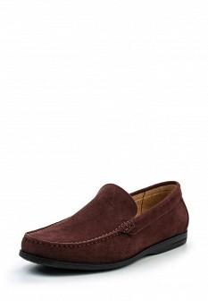 Мужские бордовые туфли лоферы