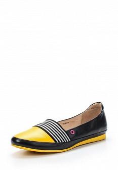 Женские желтые черные кожаные туфли лоферы