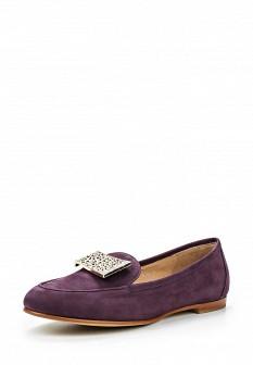 Женские фиолетовые туфли лоферы