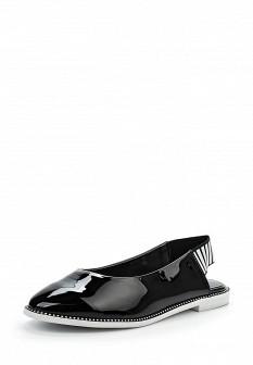 Женские черные кожаные лаковые туфли