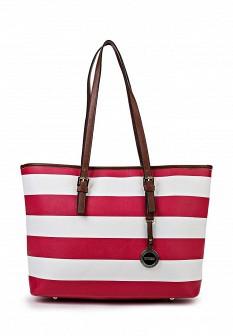 Женская белая кожаная сумка Vitacci