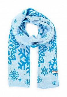 Женский голубой осенний шарф