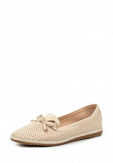 Женские бежевые кожаные туфли лоферы