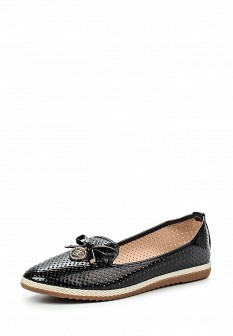 Женские черные кожаные лаковые туфли лоферы