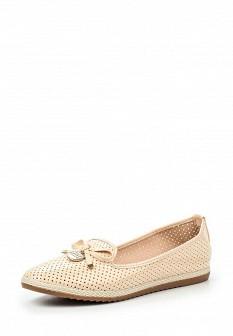 Женские бежевые кожаные лаковые туфли лоферы
