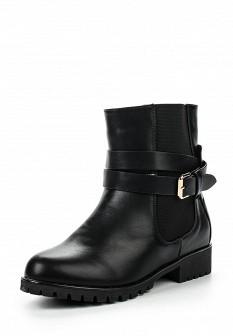Женские черные осенние кожаные сапоги на каблуке