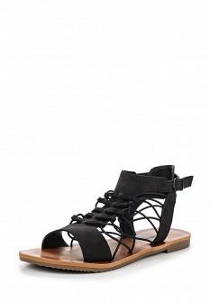 Женские черные сандалии из нубука