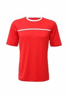 Мужская красная осенняя спортивная футболка