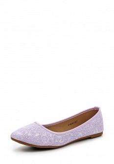 Женские фиолетовые текстильные балетки
