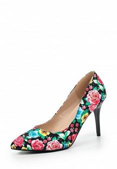 Женские осенние текстильные туфли на каблуке
