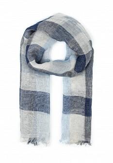 Мужской синий итальянский осенний летний шарф