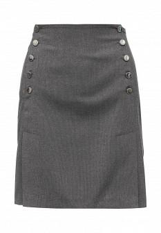 Серая осенняя юбка Xarizmas