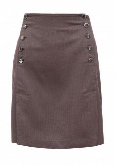 Коричневая осенняя юбка Xarizmas