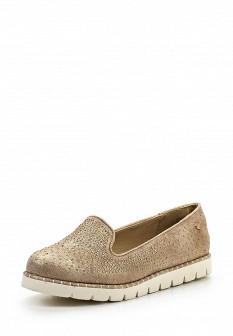 Женские бежевые туфли лоферы