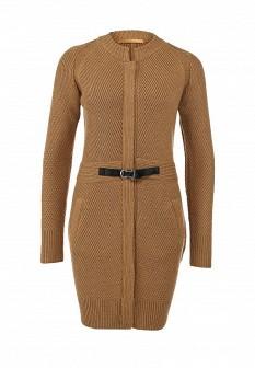 Женское бежевое осеннее пальто