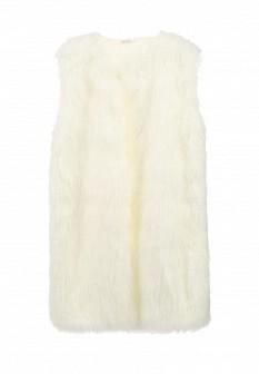 Женский белый осенний жилет