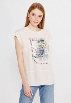 Женская бежевая футболка ZARINA