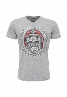Мужская серая итальянская осенняя футболка