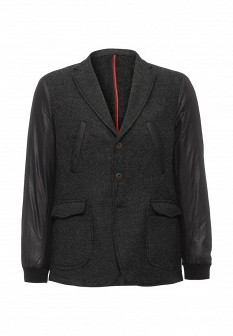 Мужское черное итальянское осеннее пальто