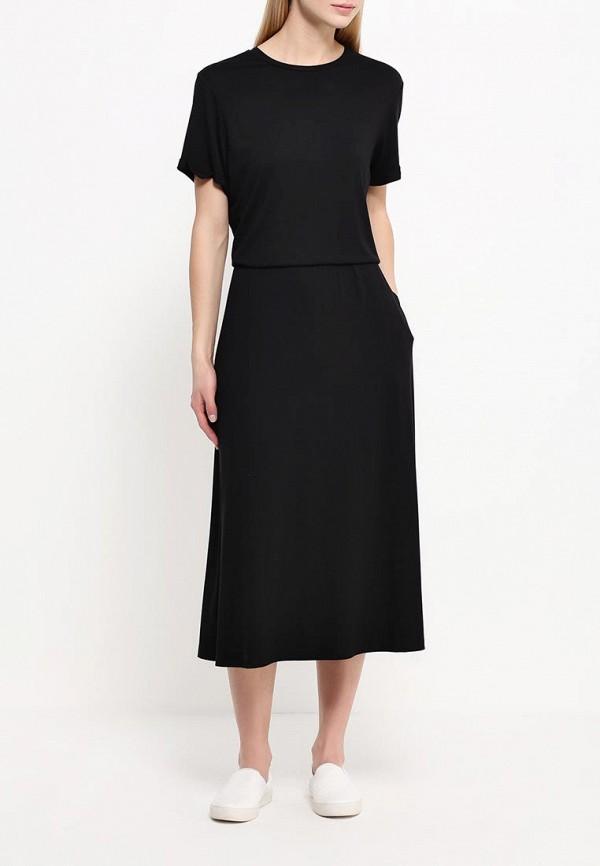 Платье-макси A-A by Ksenia Avakyan 38s6visc-черный: изображение 2
