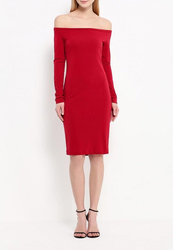 Платье-миди A-A by Ksenia Avakyan 18w11-бордовый: изображение 2