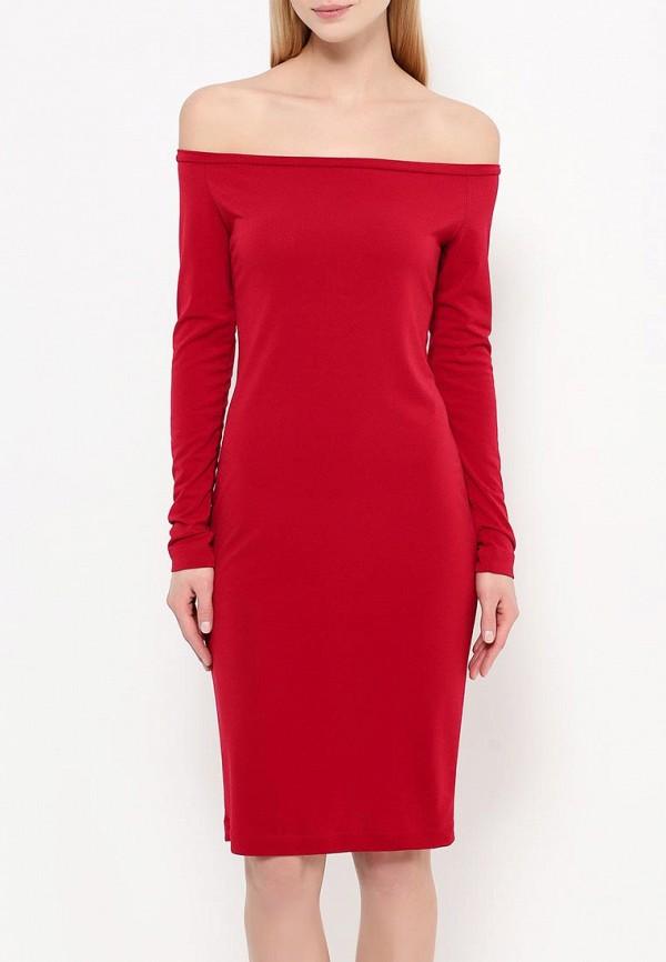 Платье-миди A-A by Ksenia Avakyan 18w11-бордовый: изображение 3