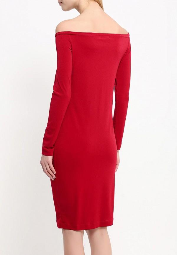 Платье-миди A-A by Ksenia Avakyan 18w11-бордовый: изображение 4